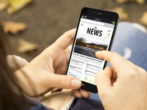Czech mobile internet users seek news