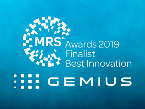 Gemius shortlisted for Best Innovation in MRS Awards 2019!